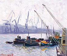 Gonzalo Román. Ships in the port