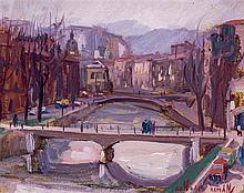 Gonzalo Román. Bridge over the river