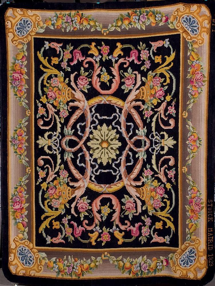 Alfombra espa ola de lana de la real f brica de tapices fir - Alfombra de lana ...