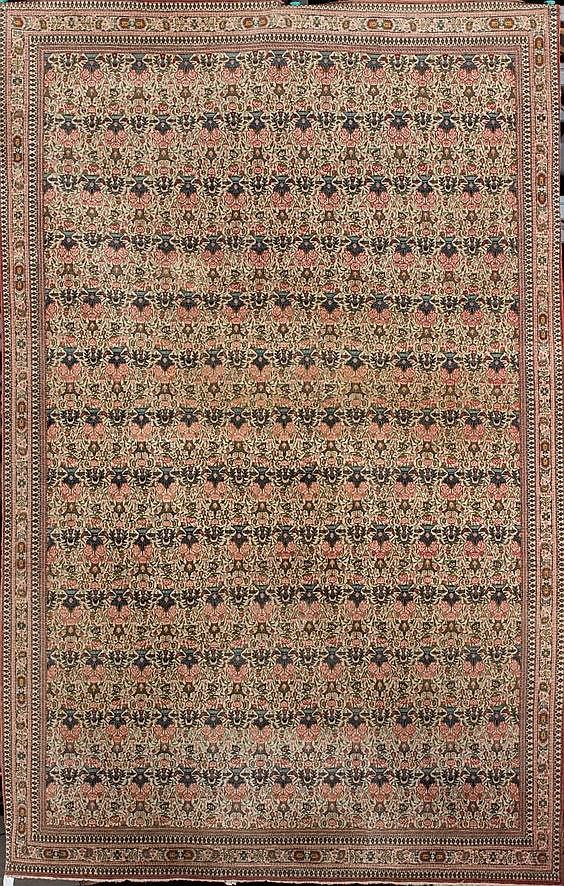 Bonita alfombra teheran de lana ir n antigua campo de fon for Alfombras de iran