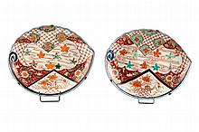 A Pair of Imari Porcelain Platters, 19th C.