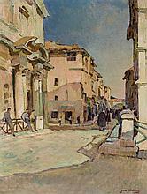 "AUBERY, JEAN (1880 - ?). ""Calle de pueblo"""