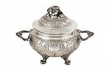 A silver small tureen