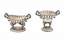 Two silver small centrepieces