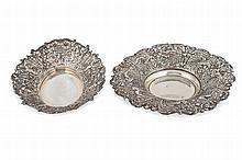 2 silver centrepieces