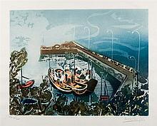 Menchu Gal. Boats at the port