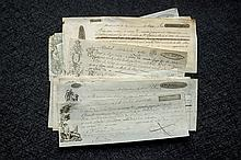 17 payment documents 1829-43 with engravings