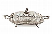 Spanish silver serving tray