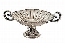 A Spanish silver centrepiece