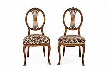 6 George III style oak chairs, c. 1920