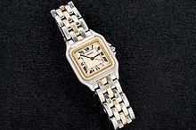 Cartier Santos steel and gold ladies watch