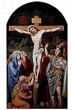 19th C. Austrian School. Crucifixion