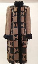 Christian Dior. A suede and mutton coat