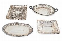 A Spanish silver group of pieces