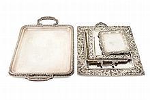 6 silver trays