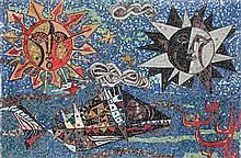 A mural mosaic