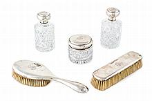 Spanish silver vanity set