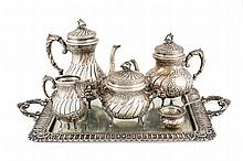 Spanish silver tea and coffee set