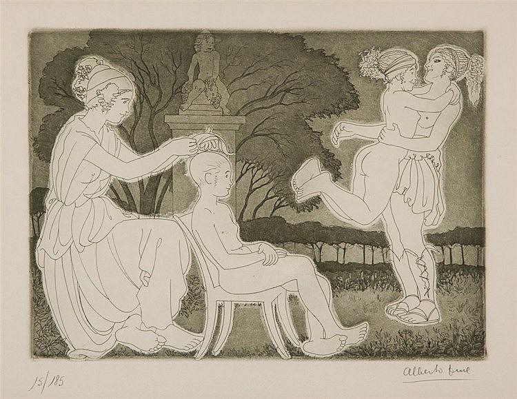 Alberto Duce. Safo + Poemas. 2 engravings