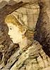 Francisco Arias. Girl''''s portrait, Francisco (1911) Arias, Click for value