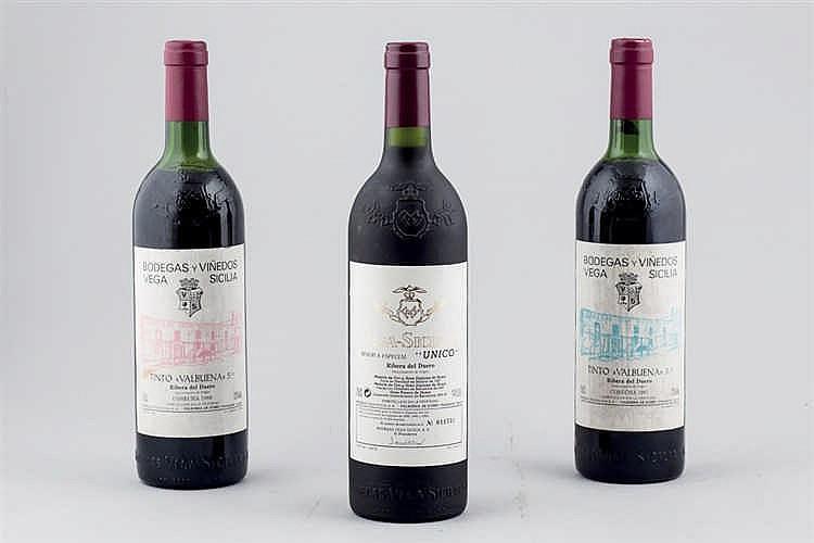 3 bottles Vega-Sicilia