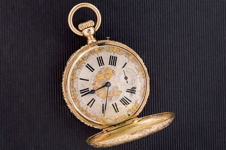 A Gold 18 ct Pocket Watch, c. 1900