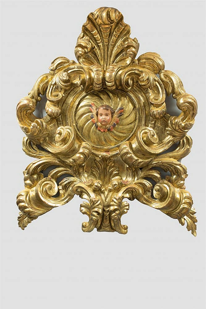 Baroque wooden carving. 18th C.