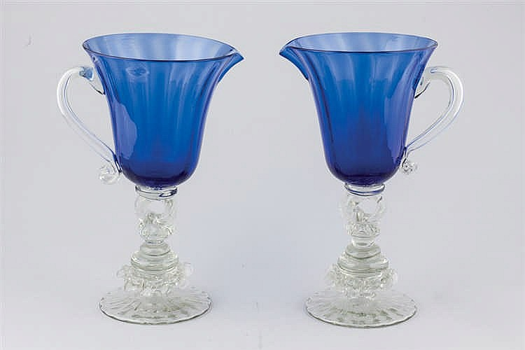 A pair of Gordiola glass