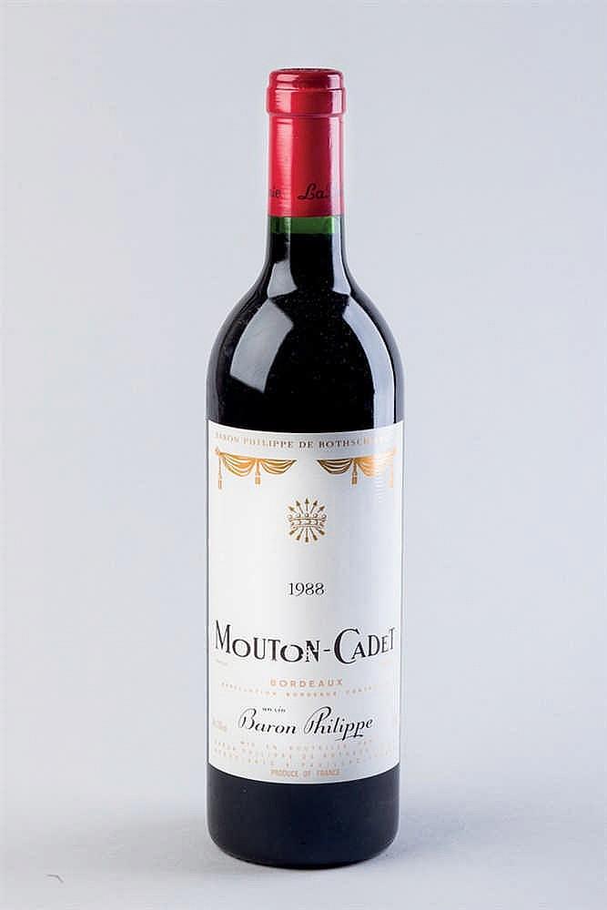 6 bottles Mouton Cadet, 1988