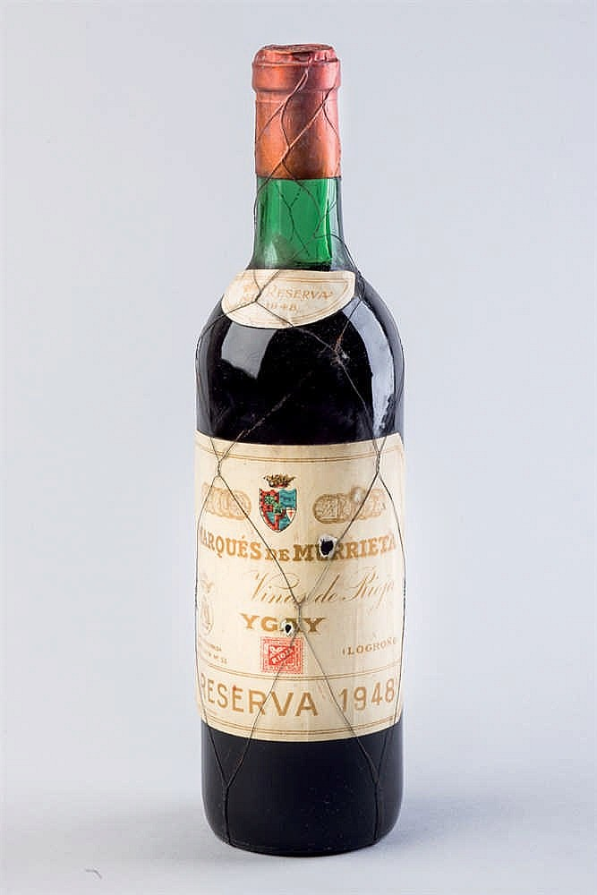 12 bottles M. Murrieta Ygay, R. 1948