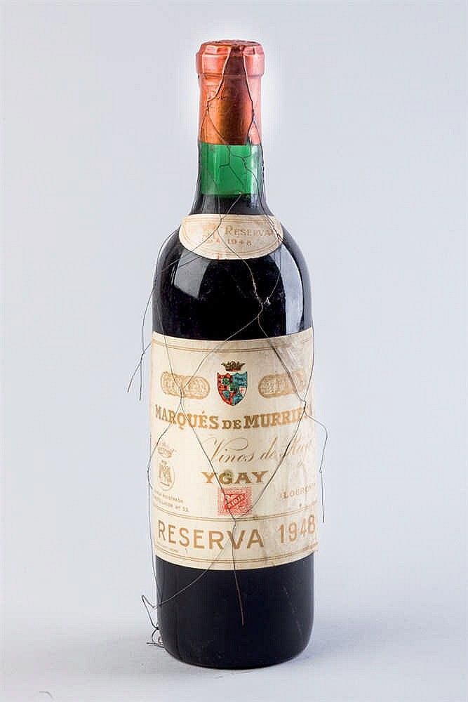 10 botellas Rioja M. Murrieta Ygay, R. 1948