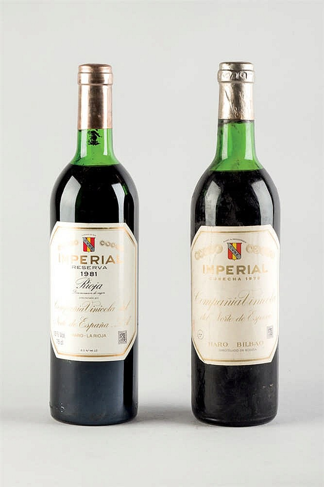 6 bottles Imperial: 1981 and 1970