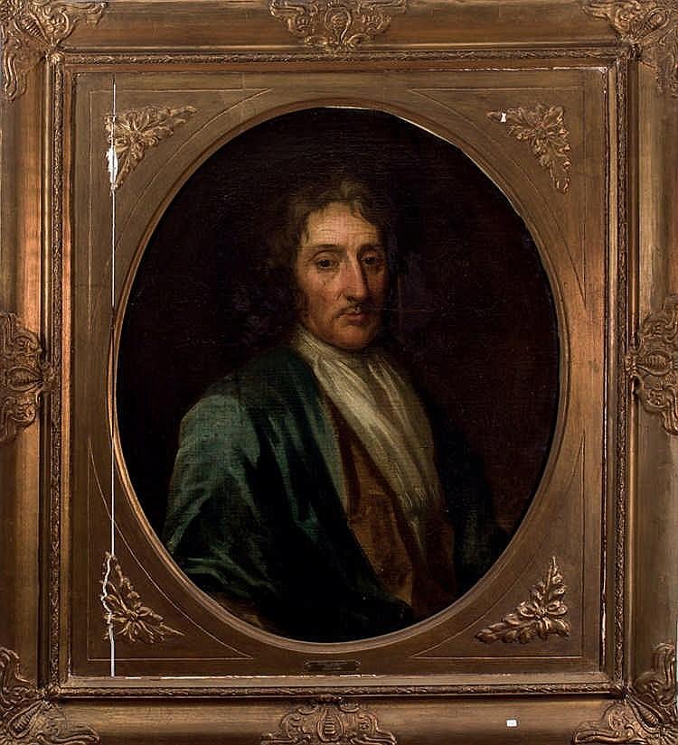 Van Ceulen follower. Men''''s portrait