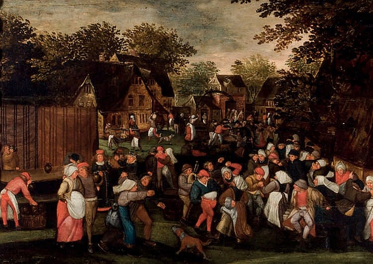 Follower of Pieter Brueghel the Younger. Ball