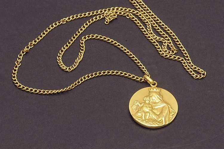 Gold medal with coin