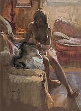 20th C. European School. Nude woman