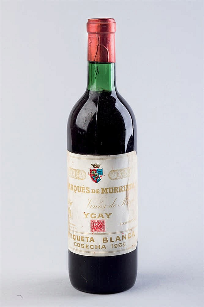 4 bottles M. Murrieta Ygay. Et. Bl. 1965
