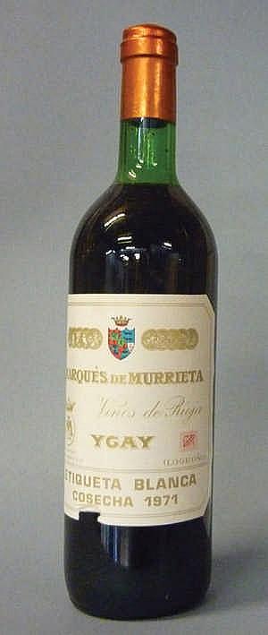 12 bottles Marqués de Murrieta 1971