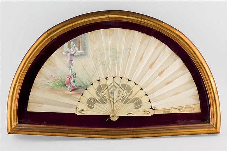 Set of three Spanish fans. 19th.C-20th.C