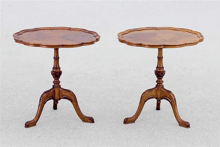 A pair of Victorian style occasional table