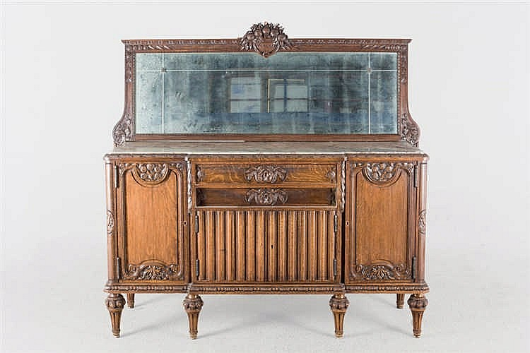 An early 20th.C oak sideboard