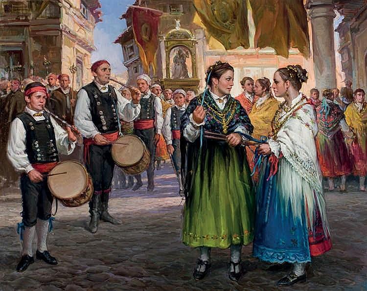 Francisco Vadillo. Charra procession