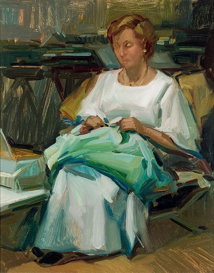 Francisco Vadillo. Sewing woman