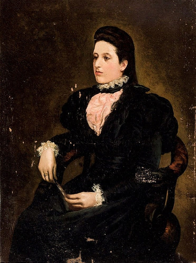 European School, late 19th C. Seated Lady
