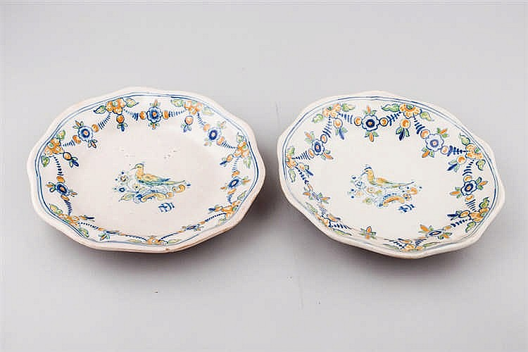 Late 19th.C set of eight Talavera ceramic dishes