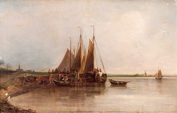 J. A. Nöel. Sailing through the channel