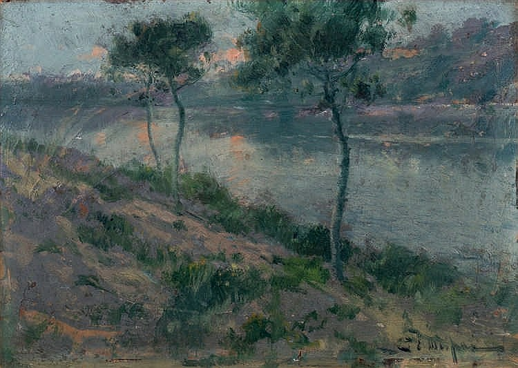 Eliseo Meifrén. River Landscape
