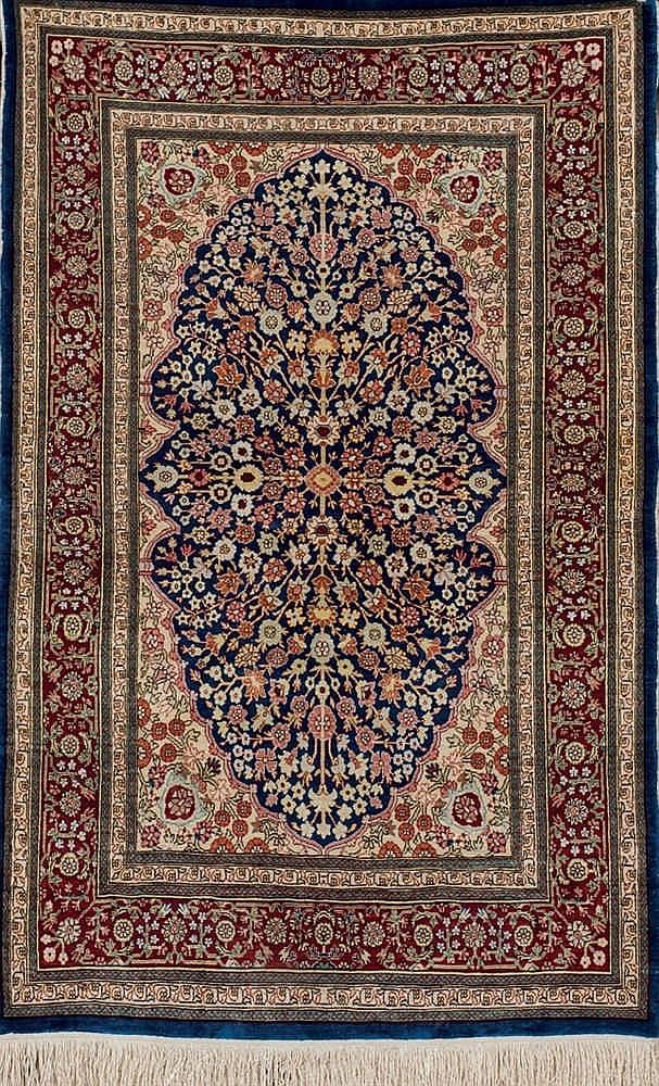 A Turkish Hereké silk rug