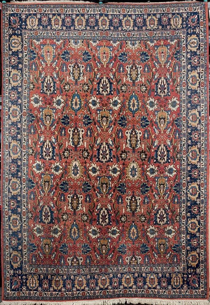 An iranian  Qum  wool rug