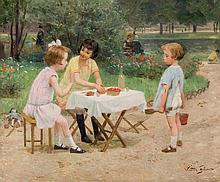 Victor Gilbert. Children playing